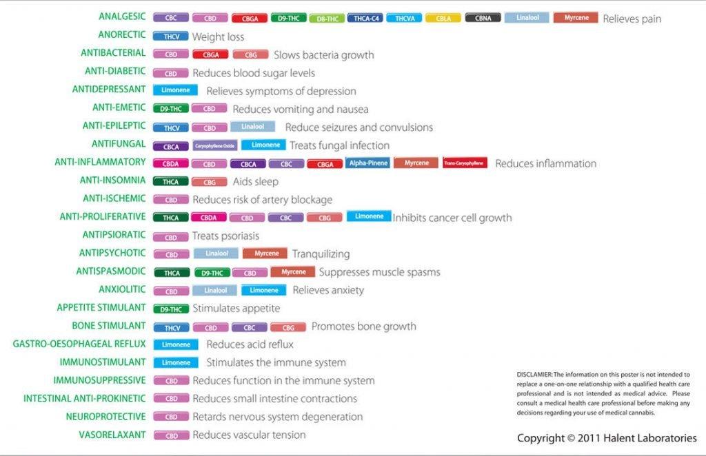 Halent 2011 – Cannabinoid and Terpenoid Chart