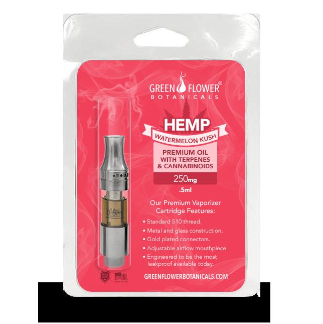 Watermelon Kush Full Spectrum Hemp Oil Vaporizer Pen Cartridge - 250mg CBD