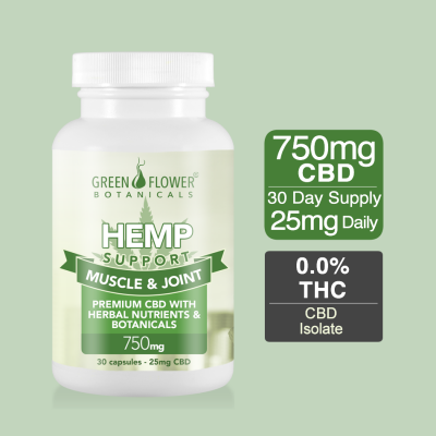 750mg CBD Muscle and Joint Support Capsules