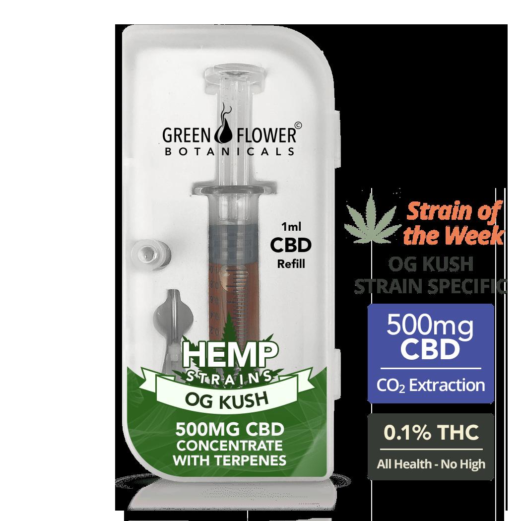 OG Kush Full-Spectrum Hemp Oil Vape Refill Syringe - 500mg CBD (1ml)