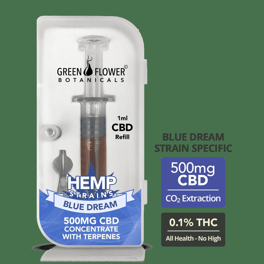 Blue Dream Full-Spectrum Hemp Oil Vape Refill Syringe - 500mg CBD (1ml)
